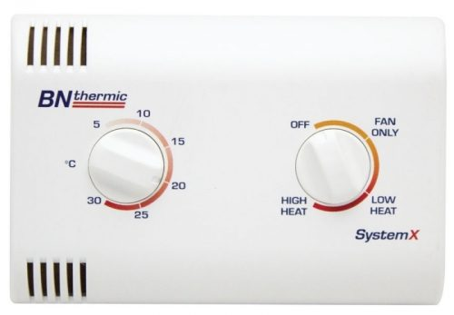 All SystemX heating systems can be easily controlled by one controller/thermostat