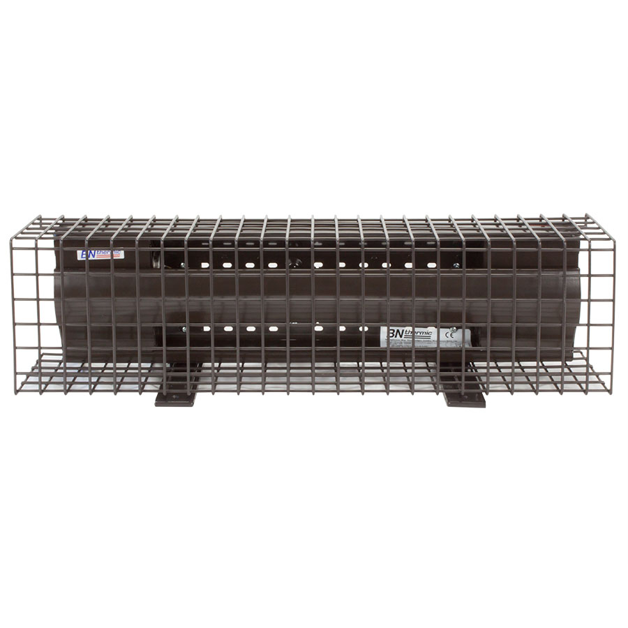 300W pew heater with optional floor brackets and safety guard