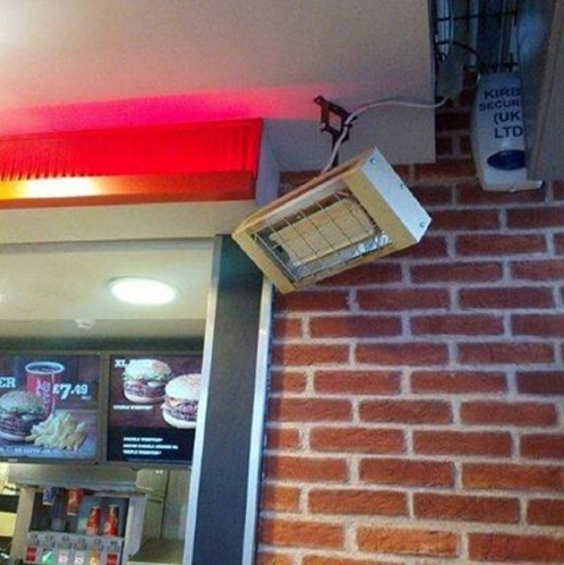 a CH installed at a fast food restaurant