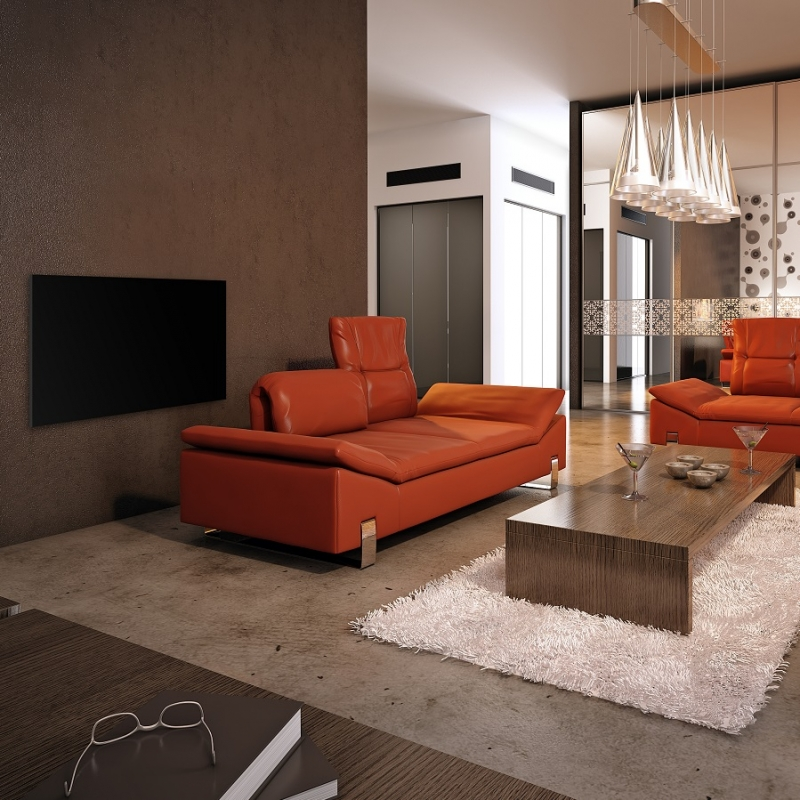 A GL-05B providing comfort heat in a very modern apartment