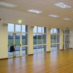 Good shot of our ceramic heaters installed at a community centre