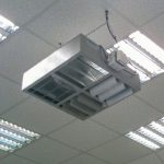 A DSU suspended in an electrical wholesalers.