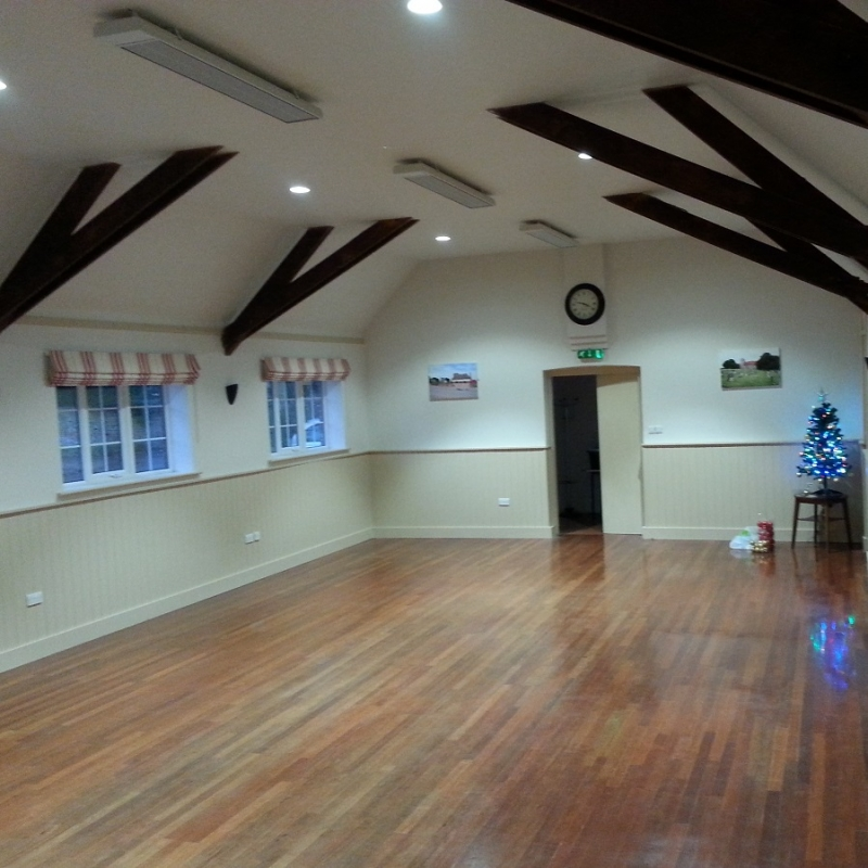 ESPs providing unobtrusive radiant heat to a church hall