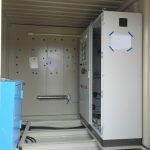 An SWD being used for frost-protection inside a container used for mobile energy supply