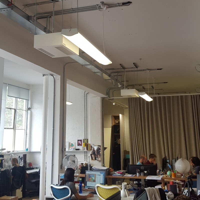 SMH heaters: ideal for an open plan office