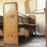 Previous generation pew heaters installed in a Worcestershire church