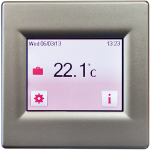 T16CS Silver touch screen thermostat
