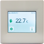 T16CW White touch screen thermostat