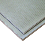 F-Board insulated tile backer board for heating mats and cable