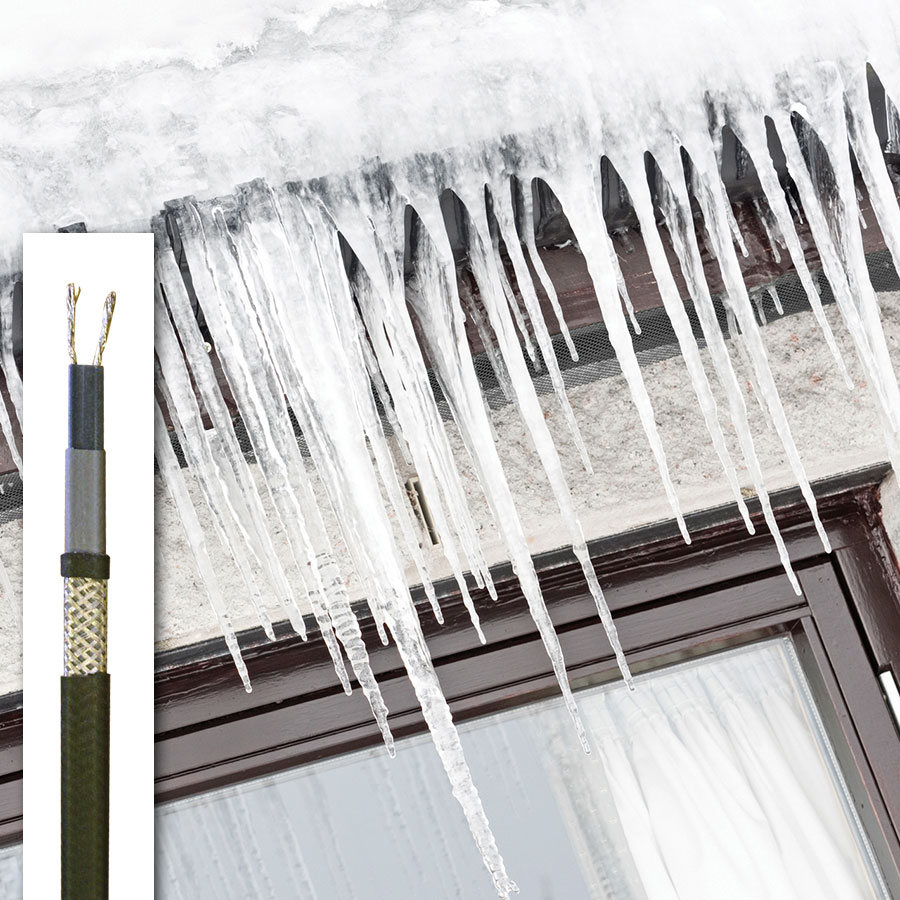 GP Self-regulating cable for gutters and downpipes