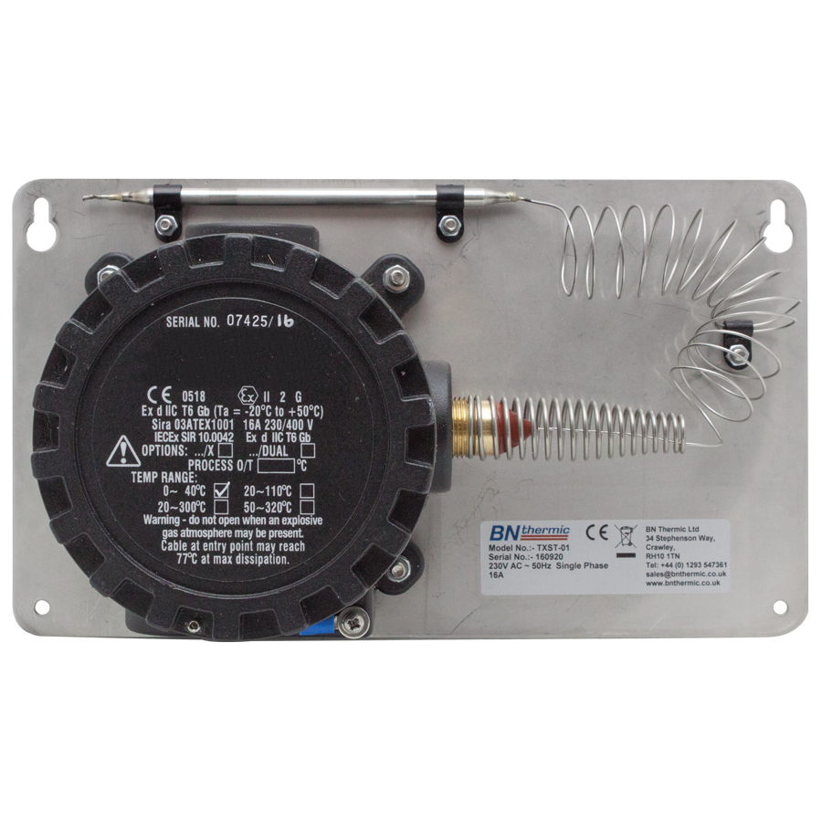 TXST-01 ATEX approved thermostat for use with hazardous gases