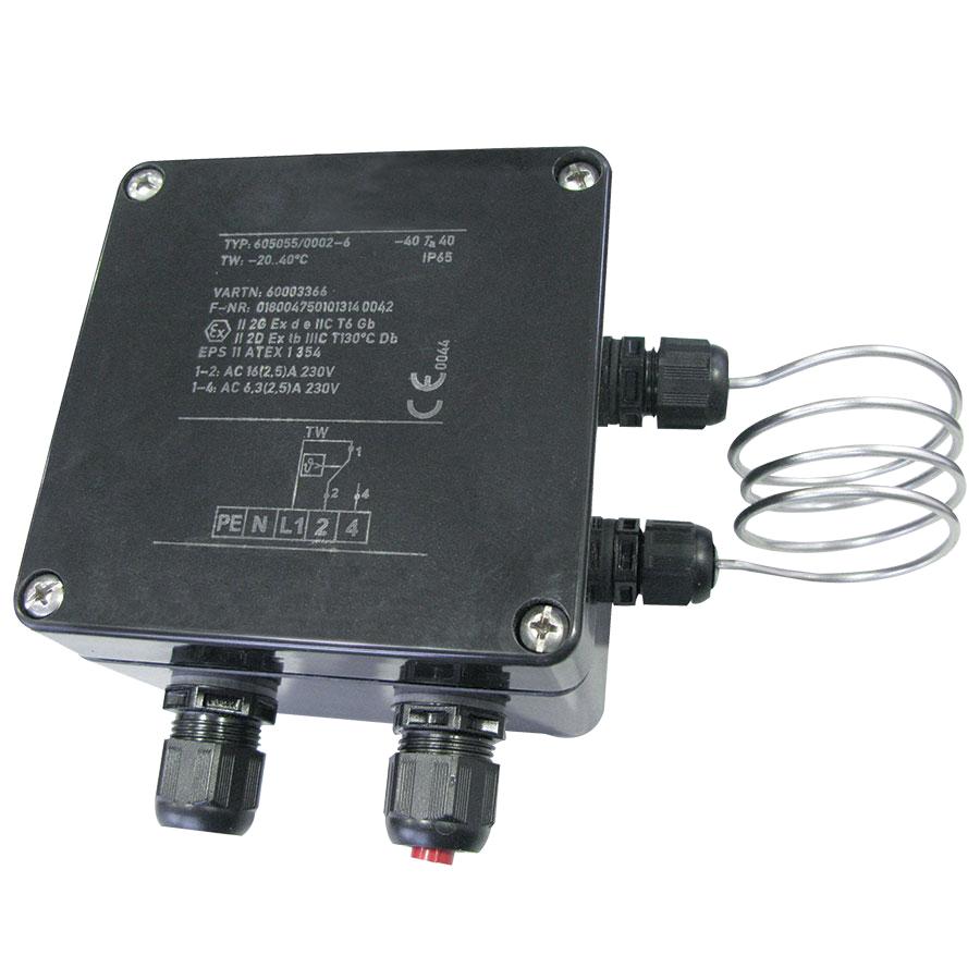 TXST-02 Wall-Mounted Thermostat 16A T6 (hazardous dust and hazardous gas)