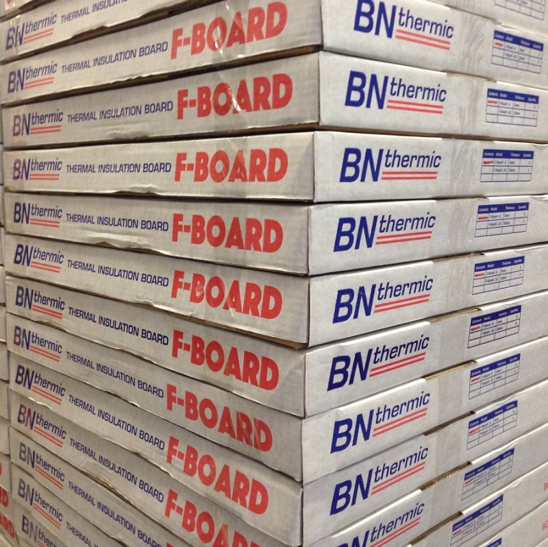 F-Board thermal insulation boards boxed and ready for dispatch
