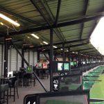 HWP2-Bs keeping golfers warm at an outdoor driving range