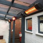An excellent patio heater installation in a pub in West London