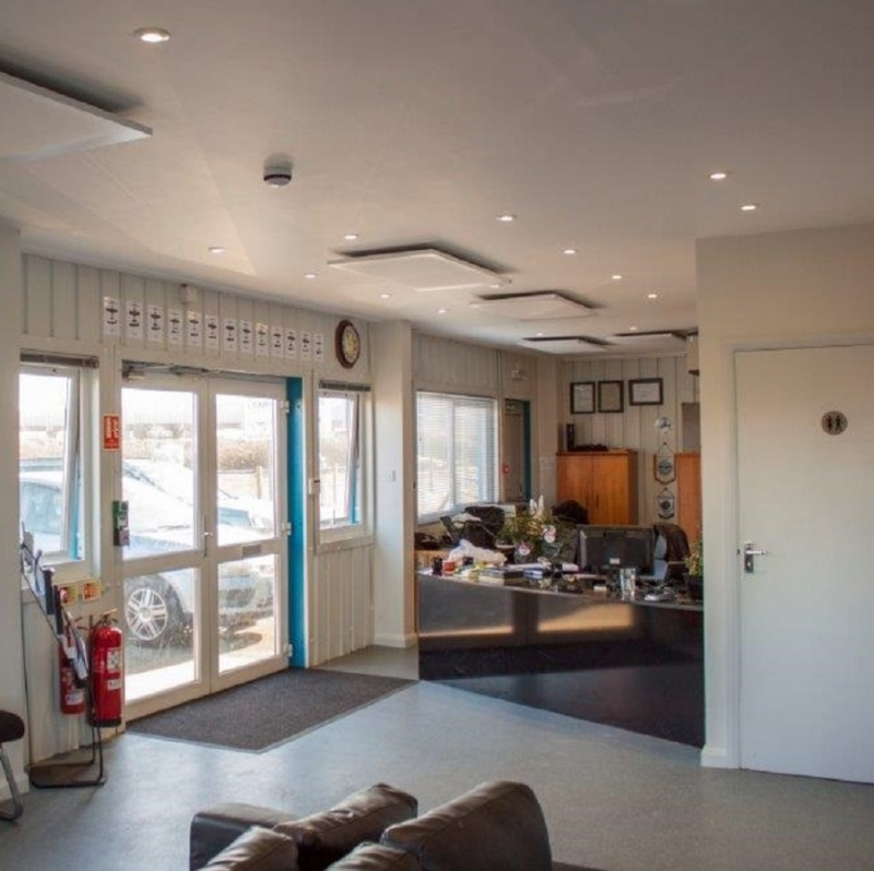 RP-06s ceiling mounted at The Real Flying School HQ in West Sussex