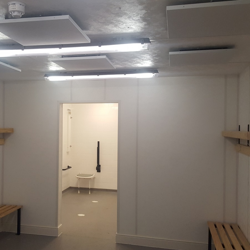 RPs are IP44 rated and are ideal for heating changing rooms