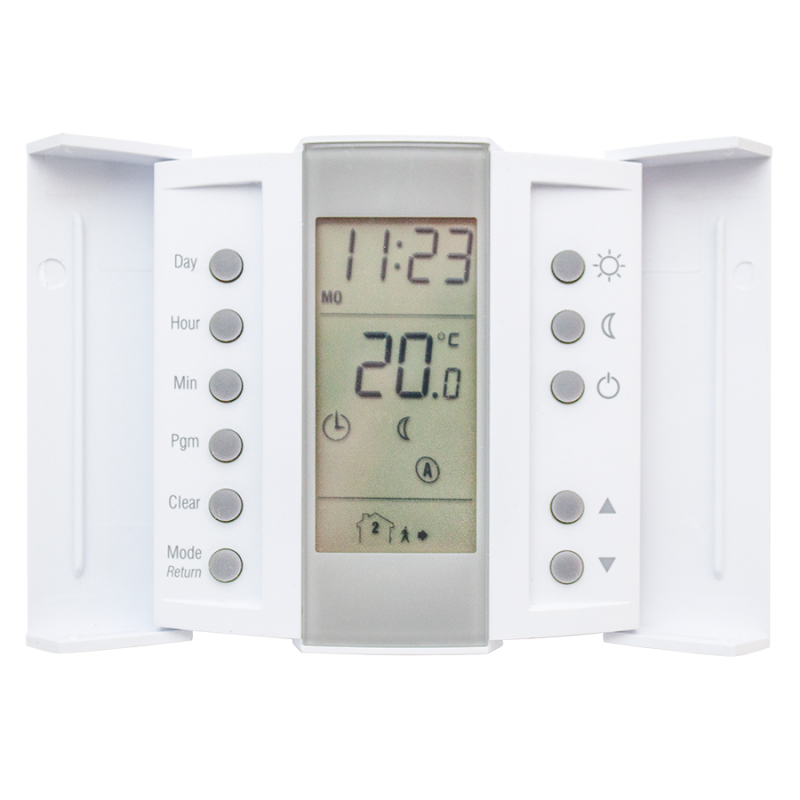 U16C Programmable Thermostat - doors open revealing program buttons