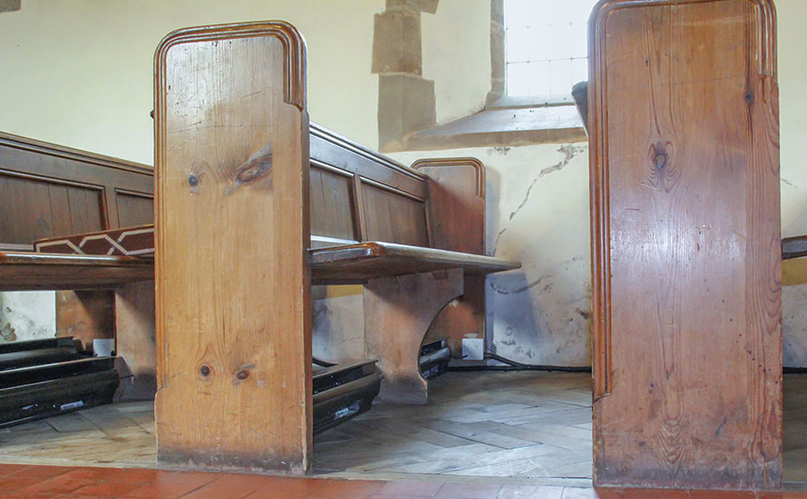 Pew heaters installed in a Worcestershire church