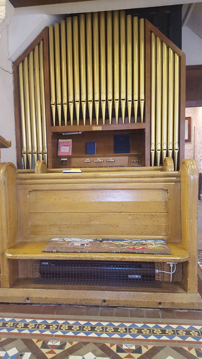 BLC with guard installed under a choir stall in a Somerset church