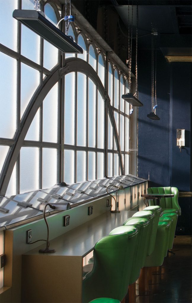 ETH terrace heaters are ideal for suspension above dining areas