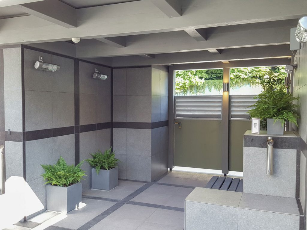 HWP2-S heaters providing instant heat in the smartest-looking smoking area we've ever seen!