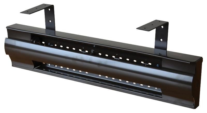 Pew heater fitted with BLC-HB suspension brackets