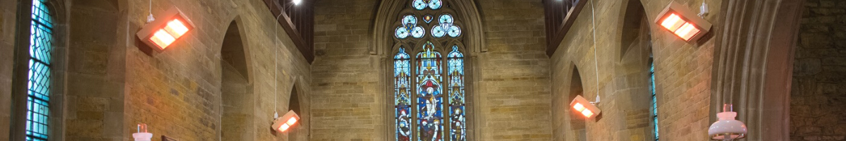 Quartz Halogen Heaters Installed in St Giles Church in Medbourne, Leicestershire