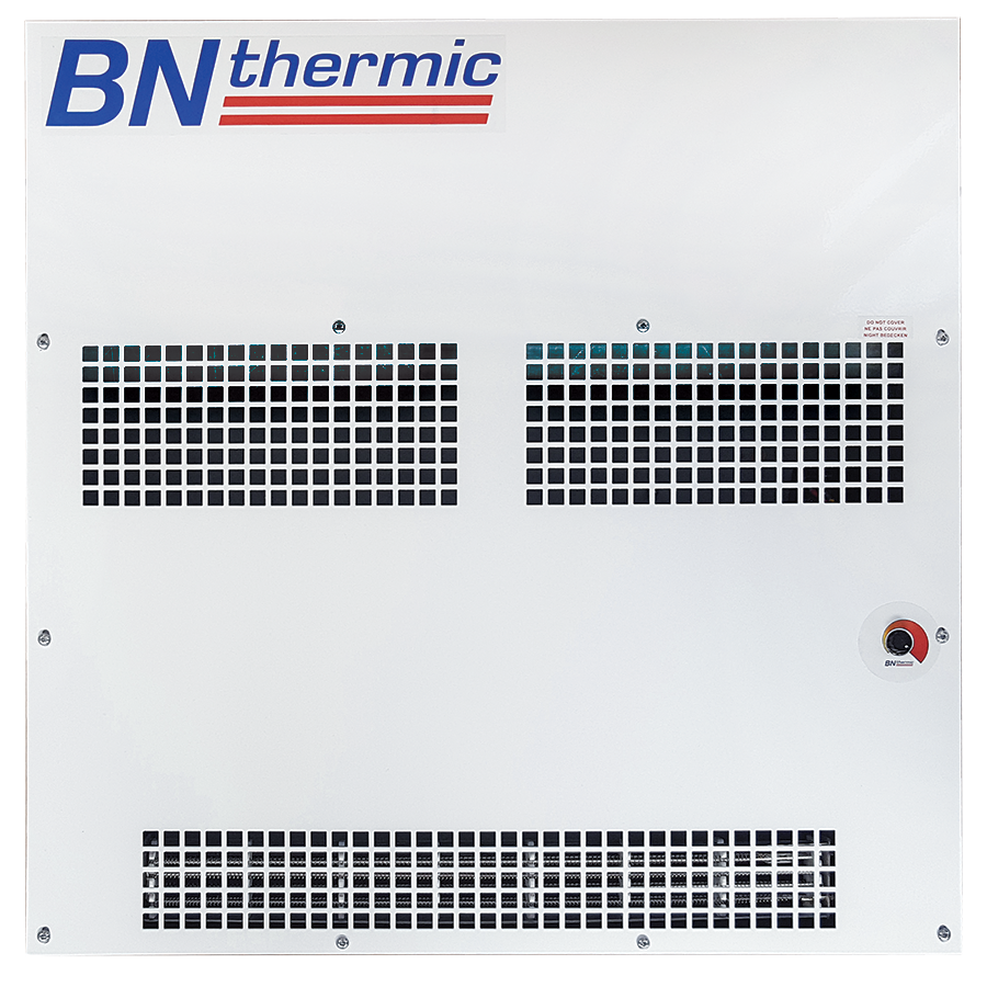 Ceiling grid heater with adjustable thermostat