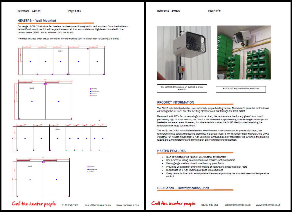 Heating Proposal Page 2 + 3