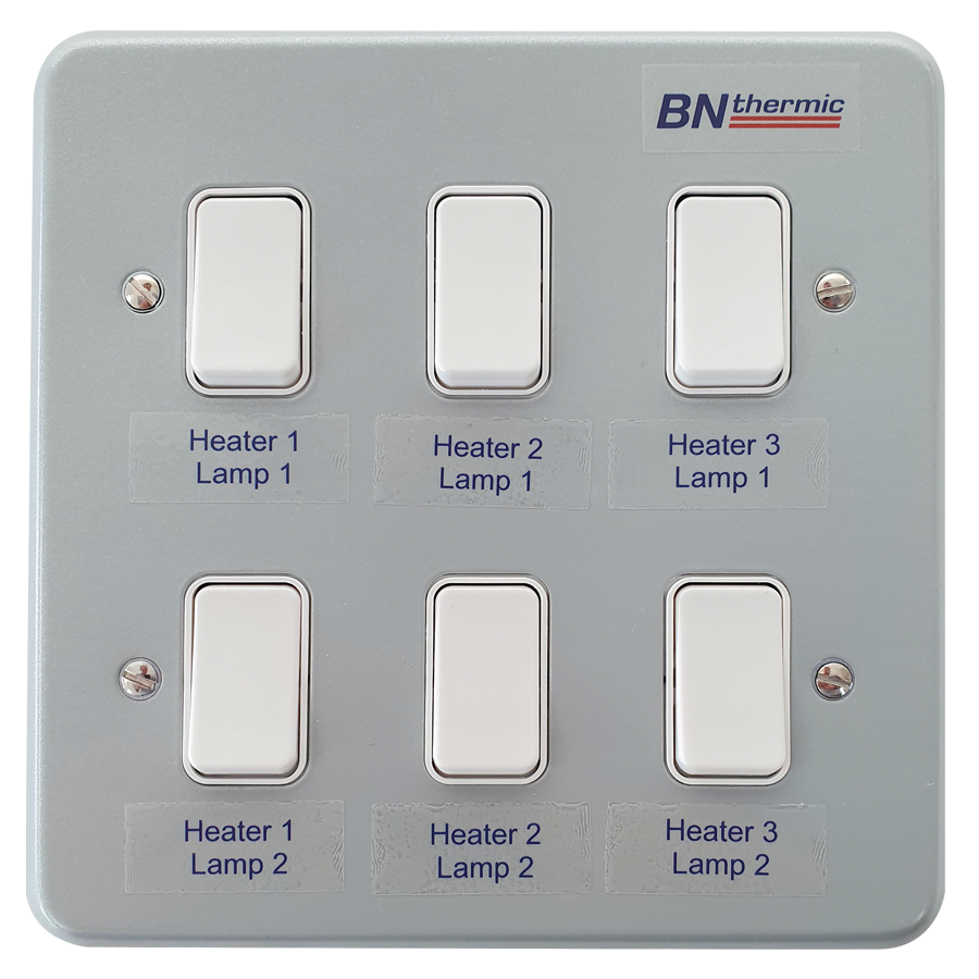 CS6 Six-gang switch for multiple halogen heaters