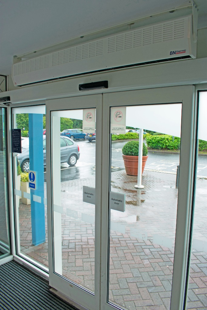9kW over door heaters are often used in hotel foyer and office reception areas