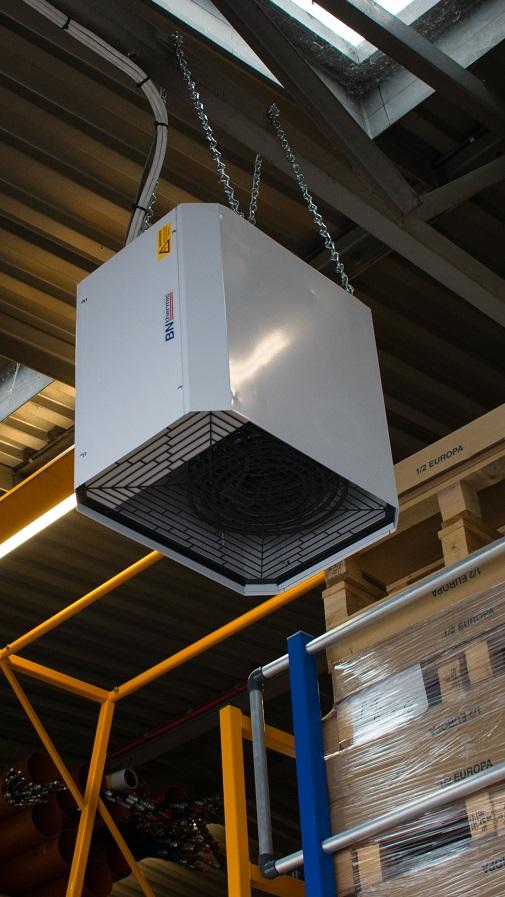 OUH2 installed in a workshop in Billingshurst, West Sussex