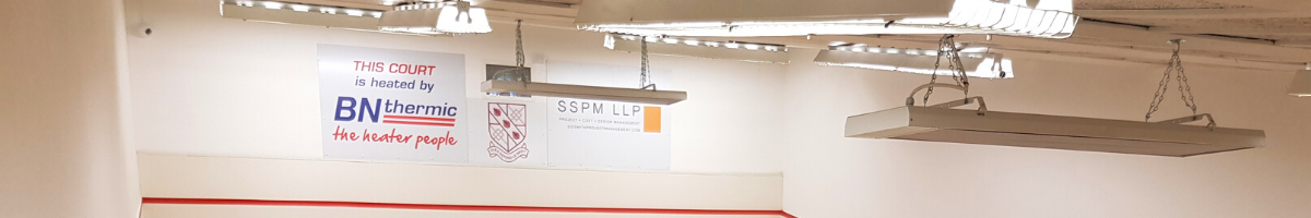 Longwave Radiant Heaters Installed at Spencer Squash Club in Wandsworth, London