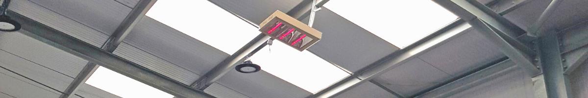 Magic Lamp Quartz Halogen Heaters Installed at Pinhole Quilting in Pershore, Worcestershire