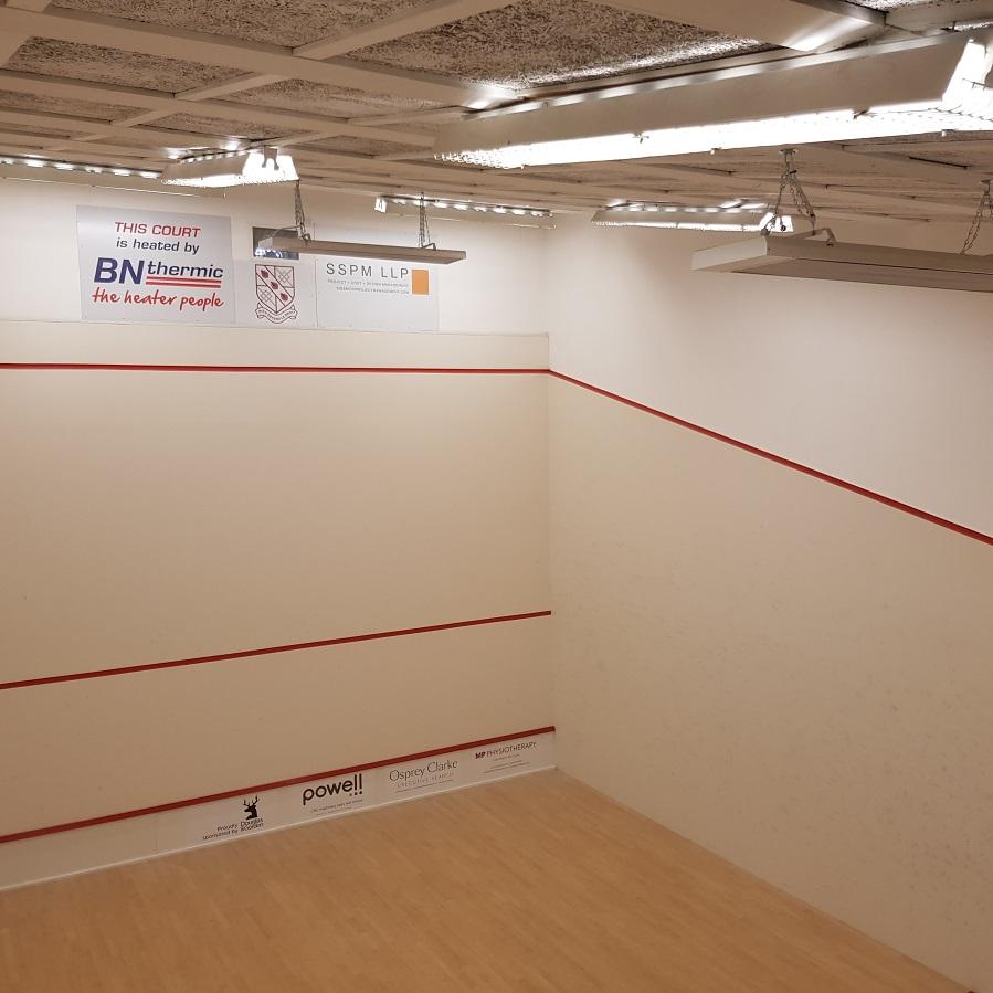 Squash court heating