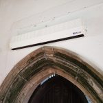 860 over door heater install